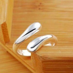 Silver Water Drop Thumb Wrap Ring